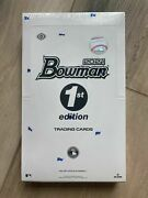 2021 Bowman 1st Edition Baseball Cards - 24 Pack Brand New Sealed ✅