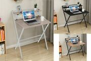 Folding Study Desk For Small Space Home Office Desk Laptop Writing Work Table