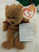 Curly Spelling Ear Tag Error Beanie Baby Good Condition.