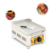 110v 2kw Mini Electric Griddle Flat Top Grill Machine Hot Plate Bbq Countertop