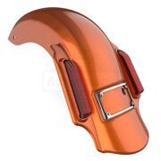 Amber Whiskey Dominator Stretched Extended Rear Fender For 2014+ Harley Touring
