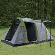 Aeolus 4 Grey/sycamore - 4 Person Family Tent Airpole Tec Camping Outdoor Hiking
