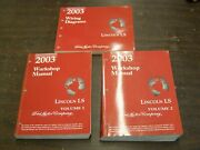 Oem Ford 2003 Lincoln Ls Shop Manual Book + Wiring Diagram Books Set