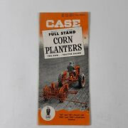 Case Company Advertising Brochure Full Stand Corn Planters Two Row Racine Wi B-p