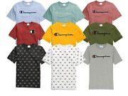 Champion Life Logo Tee T-shirt Mens Assorted Logo Style Athletic Fit 100 Cotton