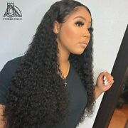 Long Glueless Curly Lace Front Human Hair Wigs Pre Plucked Water Wave Wig Remy