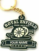 Smart Galleria Royal Enfield Bullet Bike Customized Own Name Metal Keychaingold