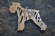 Adorable Miniature Schnauzer Wood Toy Dog Christmas Ornaments Gift Tag