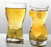 60/400ml Unique Beer Cups Funny Body Shape Wine Glass Whisky Vodka Shot Glasses