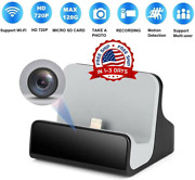 Hidden Camera Iphone Charger Dock Wifi Live View Spy Cam Pet Home Camera Nanny