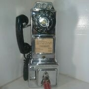 Vintage Coin Rotary Payphone Automatic Electric Circa 50s Highly Polished Chrome