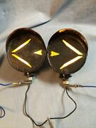 Vintage Arrow Hooded Turn Signal Lights Hot Rat Rod Truck Model A T Ford Chevy