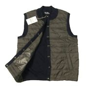Barbour Menand039s Navy/gray Essential Mixed Media Tailored Fit Gilet Vest