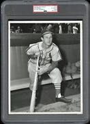 Stan Musial Type 1 Original Photo Jacobellis Psa/dna 1952 Red Man Card Image