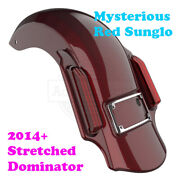 Mysterious Red Dominator Stretched Extended Rear Fender For 14+ Harley Touring