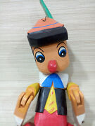 Antiques Pinocchio Marionette Puppet Hand Carved Wood Small Disney Pinochio