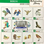 Birds Embroidery Designs Card For Husqvarna Viking Sewing Machines