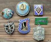 Lot Insignes Pucelles Militaires Drago Vintage French Military Badges Insignia