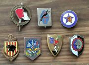 Lot Insignes Pucelles Militaires Drago Vintage French Military Badges Insignia 1