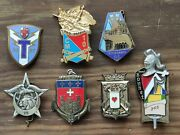 Lot Insignes Pucelles Militaires Drago Vintage French Military Badges Insignia 2
