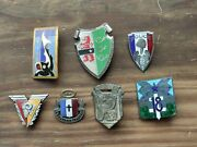 Lot Insignes Pucelles Militaires Drago Vintage French Military Badges Insignia 3