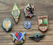 Lot Insignes Pucelles Militaires Drago Vintage French Military Badges Insignia 6