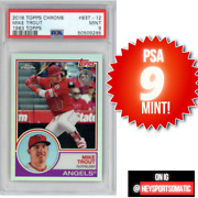 2018 Topps Chrome 83t-12 Mike Trout 1983 Topps Angels - Psa 9 Mint Low Pop