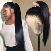 360 Lace Frontal Human Hair Wigs Pre Plucked For Black Women Straight Short Braz