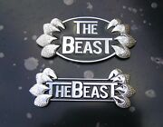 The Beast Car Emblems As Shown In Photo Chrome Metal Badges Fits Chev Buick Ford