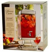 Shannon Crystal Fairmont Cold Beverage Dispenser 2.2 Gallon - Hand Crafted Used