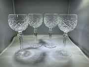 Waterford Powerscourt Wine Hocks Set Of 4 Mint Condition Free Shipping