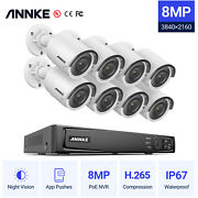 Annke Ultra Hd 8mp Video Poe Power Security Camera System 4k 8ch Nvr Outdoor App