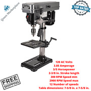 Central Machinery 10 Bench Top Portable Drill Press 12 Speed Table Rotates