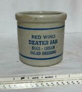 Antique Advertising Red Wing Beater Jar