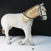 American Girl Doll Saige's Horse Picasso Appaloosa Spotted And Bridle Halter Reins