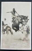 Mint Usa Rppc Postcard Rodeo Cowboy Soapy Williams On Glass Eve Doubleday Photo