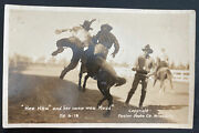 Mint Usa Rppc Postcard Hee Haw And Her Name Was Maud Foster Photo Rodeo