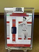 2020 National Treasures Baseball 1/1 3-color Patch Relic Game Worn Ted Williams