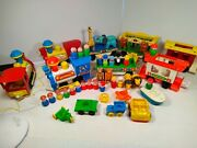 Fisher Price Circus Train And Express Train With Lot's Of Extras Little People....