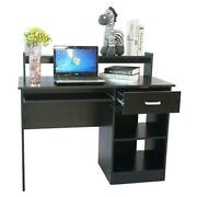 Computer Desk Office Desk With Drawer,keyboard Tray,monitor Stand,storage Shelf