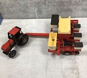 Ertl Farm Tractor 2294 And Pull Behind Case International Cyclo Air 900 Vintage