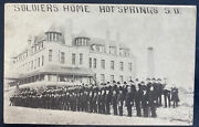 1909 Usa Rppc Real Picture Postcard Cover Civil War Soldiers Home Hot Springs Sd