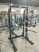 Hammer Strength Half Rack With Pull Up Bars - Squat Weightlifting Gym Cage
