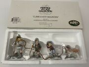 Department 56 Climb Every Mountain Heritage Village Set 4 W/ Dog 56138 Boxed