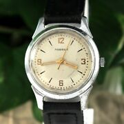 Early Military Pobeda Pchz Central Second Hand Vintage Soviet Russian Ussr Watch