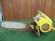 Vintage Mcculloch Model 47 Chainsaw Chain Saw With 18 Bar Right Handed