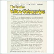 Beatles 1968 Yellow Submarine King Features Promotional Hand-out Usa