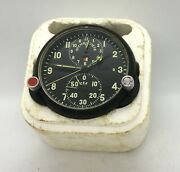 Exc Russian Soviet Ussr Military Airforce Aircraft Cockpit Clock Achs-1 Plane