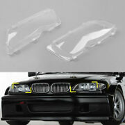 Pair Lh+rh Replace Headlight Lenses Clear For Bmw E46 4 Door 2002-2005 Clear