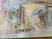 Designer Wall Hanging By Calman Shemi 49x79'' Hand Signed And Named 1199.